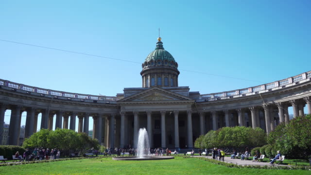 kazan cathedral st. petersburg, russia - dome stock videos & royalty-free footage