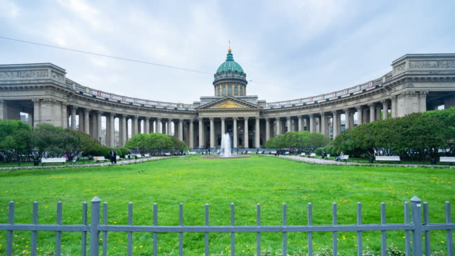 stockvideo's en b-roll-footage met kazan cathedral, st. petersburg, rusland - 19e eeuwse stijl