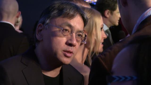 kazuo ishiguro at the moet british independent film awards at london england. - kazuo ishiguro stock videos & royalty-free footage