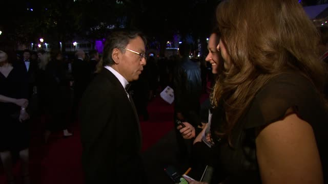 kazuo ishiguro at the never let me go premiere: 54th bfi london film festival at london england. - kazuo ishiguro stock videos & royalty-free footage