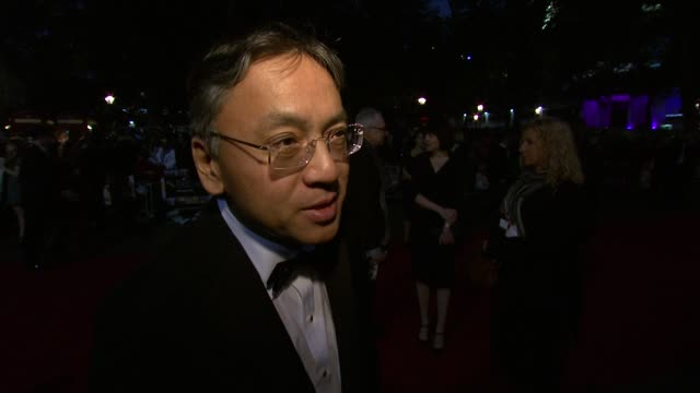 kazuo ishiguro on his reaction to the film opening the festival, on the casting at the never let me go premiere: 54th bfi london film festival at... - kazuo ishiguro stock videos & royalty-free footage