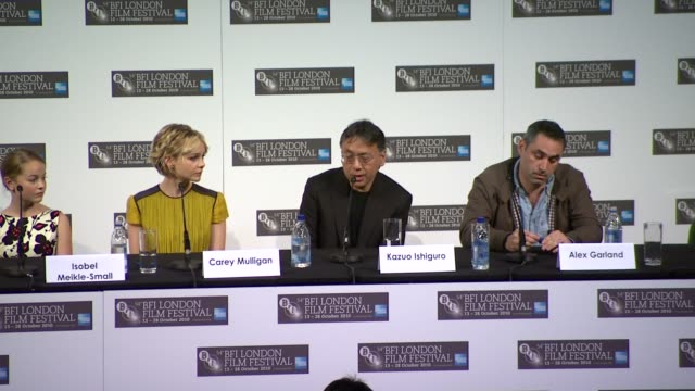 kazuo ishiguro on learning more about the story from the film, on what the actors brought to the story. - kazuo ishiguro stock videos & royalty-free footage