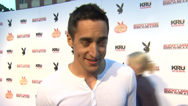 Keahu Kanuanui on what superhero he would like to be at the Camp Playboy Party At ComicCon Presented By Sony Entertainment And Kru Vodka at San Diego...