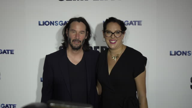 """keanu reeves and karina miller at the los angeles special screening of """"semper fi"""" at arclight hollywood on september 24, 2019 in hollywood,... - keanu reeves stock videos & royalty-free footage"""