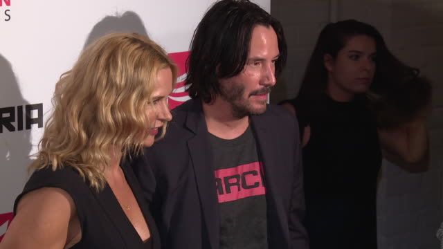 keanu reeves and olga tymshan at the siberia new york premiere at the metrograph on july 11 2018 in new york city - keanu reeves stock videos & royalty-free footage