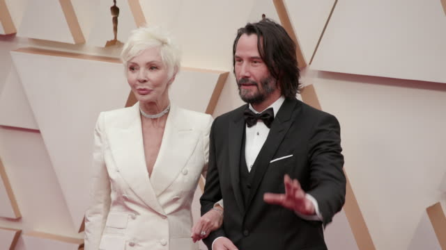 keanu reeves and patricia taylor at the 92nd annual academy awards - arrivals on february 09, 2020 in hollywood, california. - keanu reeves stock videos & royalty-free footage