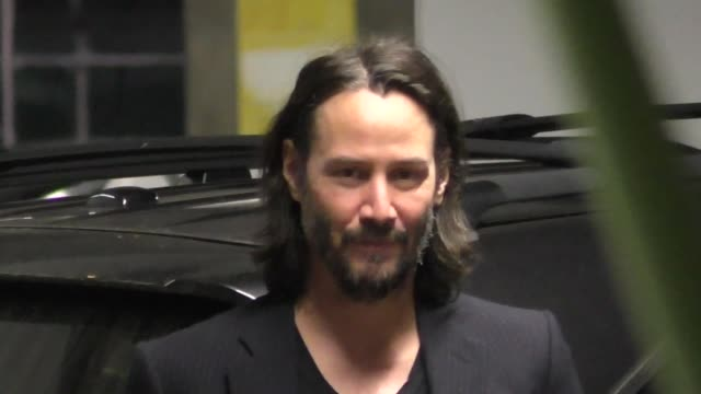 keanu reeves arrives at a special screening of semper fi at arclight theatres in hollywood in celebrity sightings in los angeles, - keanu reeves stock videos & royalty-free footage