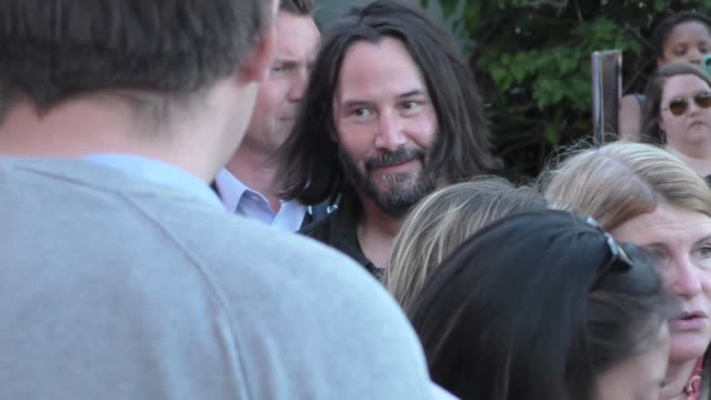 keanu reeves arriving at the premiere of too old to die young at vista theatre in los angeles in celebrity sightings in los angeles, - keanu reeves stock videos & royalty-free footage