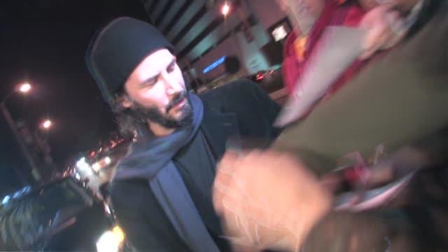 keanu reeves at boa in west hollywood at the celebrity sightings in los angeles at los angeles ca. - keanu reeves stock videos & royalty-free footage