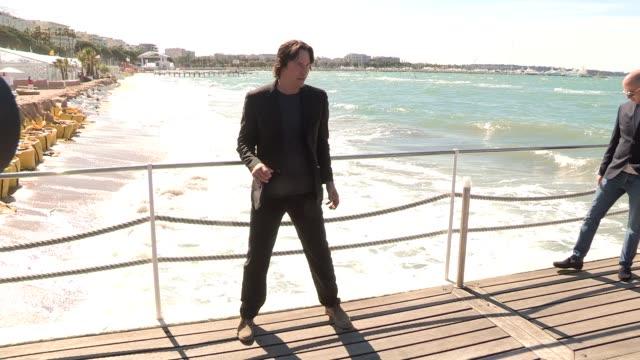 keanu reeves at celebrity sightings on may 20, 2013 in cannes, france - keanu reeves stock videos & royalty-free footage