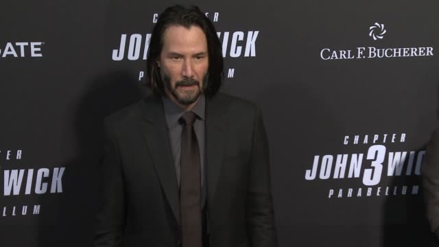 """keanu reeves at """"john wick: chapter 3 - parabellum"""" los angeles special screening at tcl chinese theatre on may 15, 2019 in hollywood, california. - keanu reeves stock videos & royalty-free footage"""