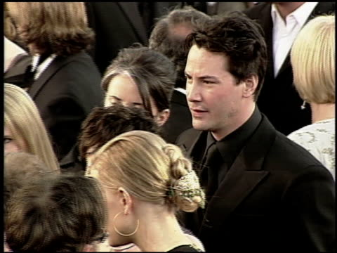 keanu reeves at the 2000 academy awards at the shrine auditorium in los angeles, california on march 26, 2000. - keanu reeves stock videos & royalty-free footage