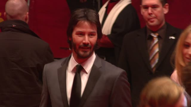 keanu reeves at the 59th berlin film festival: the private lives of pippa lee premiere at berlin . - keanu reeves stock videos & royalty-free footage