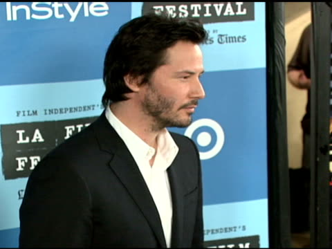 keanu reeves at the 'a scanner darkly' premiere at ford theater in hollywood, california on june 29, 2006. - keanu reeves stock videos & royalty-free footage