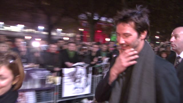 keanu reeves at the london film festival anvil the story of anvil at london - anvil the story of anvil stock videos and b-roll footage