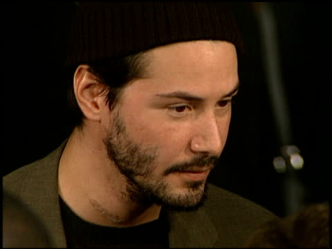 keanu reeves at the premiere of 'the devil's advocate' at the mann village theatre in westwood, california on october 13, 1997. - keanu reeves stock videos & royalty-free footage