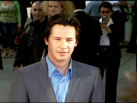 keanu reeves at the premiere of 'the lakehouse' red carpet at arclight cinemas in hollywood, california on june 13, 2006. - keanu reeves stock videos & royalty-free footage