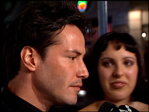 keanu reeves at the premiere of 'the matrix' at the bruin theatre in westwood, california on march 24, 1999. - keanu reeves stock videos & royalty-free footage