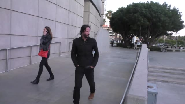 Keanu Reeves goes to see The Who at Staples Center in Los Angeles at Celebrity Sightings in Los Angeles on May 25 2016 in Los Angeles California