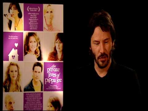 keanu reeves on how he's not used to being popular and how one can get used to the excitement of attending premieres at the 59th berlin film... - keanu reeves stock videos & royalty-free footage