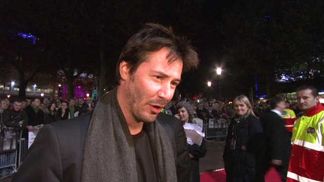 vidéos et rushes de keanu reeves on how rock and roll he is now and his views on london film festival at the london film festival anvil the story of anvil at london . - interview format raw