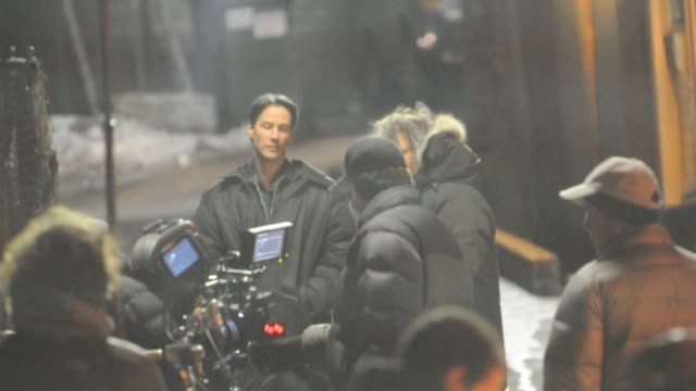 keanu reeves on location for 'henry's crime' at the celebrity sightings in new york at new york ny - keanu reeves stock videos & royalty-free footage