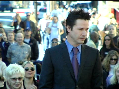 keanu reeves thanks everyone involved at the keanu reeves honored with a star on the hollywood walk of fame at hollywood highland shopping center in... - keanu reeves stock videos & royalty-free footage