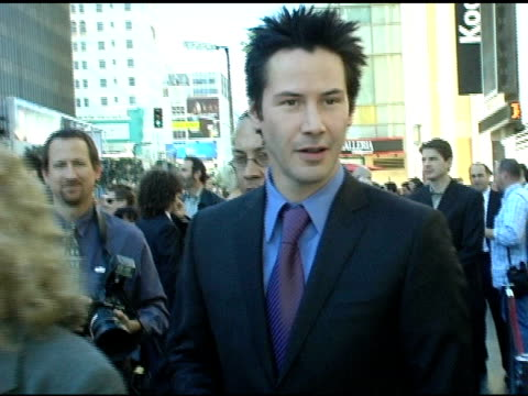 keanu reeves with fans at the keanu reeves honored with a star on the hollywood walk of fame at hollywood highland shopping center in hollywood... - keanu reeves stock videos & royalty-free footage