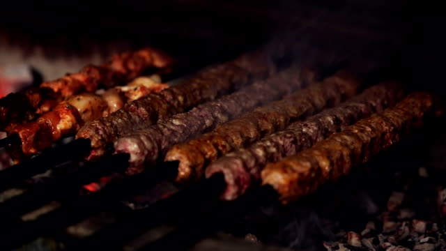 Kebab Cooked on the Grill