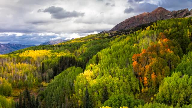 Kebler Pass Herbstfarben und Bergblick
