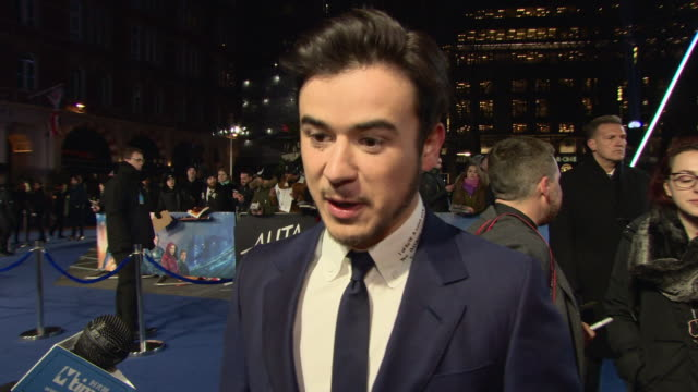 keean johnson on whether he's intimidated by the gender role reversal in the film and being surrounded by oscar winners at 'alita: battle angel'... - role reversal stock videos & royalty-free footage