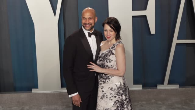 keegan-michael key and elisa key at vanity fair oscar party at wallis annenberg center for the performing arts on february 09, 2020 in beverly hills,... - vanity fair oscar party stock videos & royalty-free footage