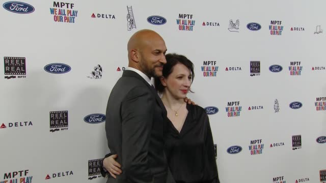 keeganmichael key and elisa pugliese at the 7th annual reel stories real lives event benefiting mptf at directors guild of america on november 08... - director's guild of america stock videos & royalty-free footage