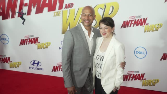 KeeganMichael Key and Elisa Pugliese at the AntMan and the Wasp World Premiere at the El Capitan Theatre on June 25 2018 in Hollywood California