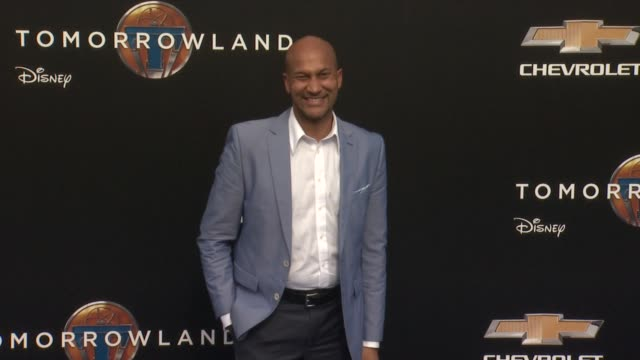 keeganmichael key at the tomorrowland los angeles premiere at amc downtown disney 12 theater on may 09 2015 in anaheim california - anaheim california stock videos and b-roll footage