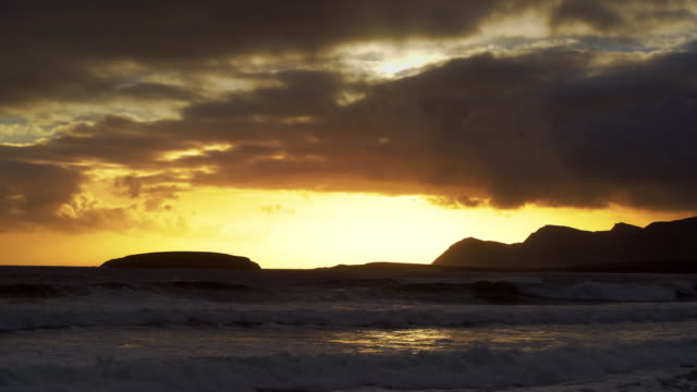 Keel Bay On Achill Island At Sunset