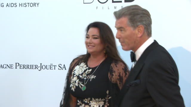 keely brosnan pierce brosnan at amfar gala cannes 2018 on may 17 2018 in cap d'antibes france - keely shaye smith and pierce brosnan stock videos & royalty-free footage