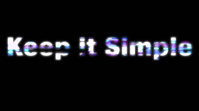 keep it simple glitchy words - plain stock videos & royalty-free footage