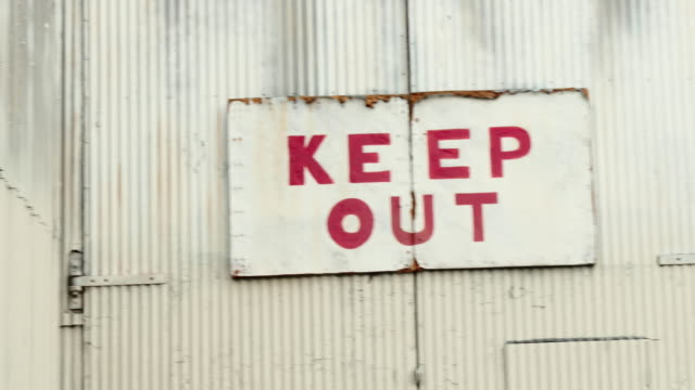 keep out sign - keep out sign stock videos & royalty-free footage