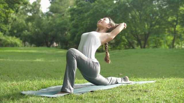 vidéos et rushes de gardez votre équilibre dans votre vie yoga - parc naturel