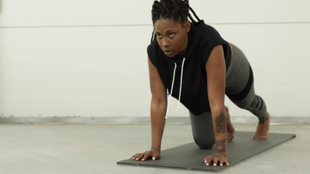 keep your body strong - braided hair stock videos & royalty-free footage