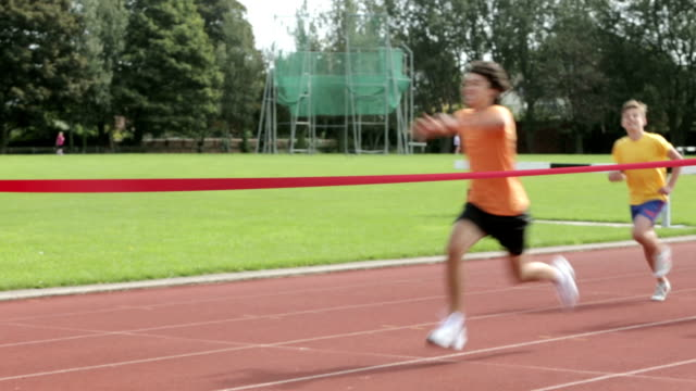 keep-fit-kids - relay stock videos and b-roll footage