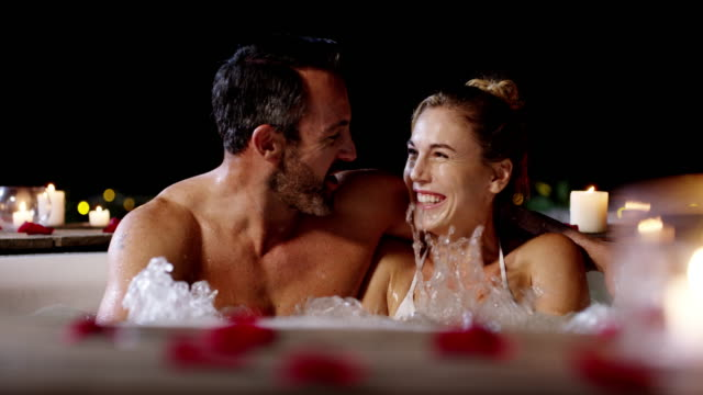 keeping the romance alive - hot tub stock videos and b-roll footage