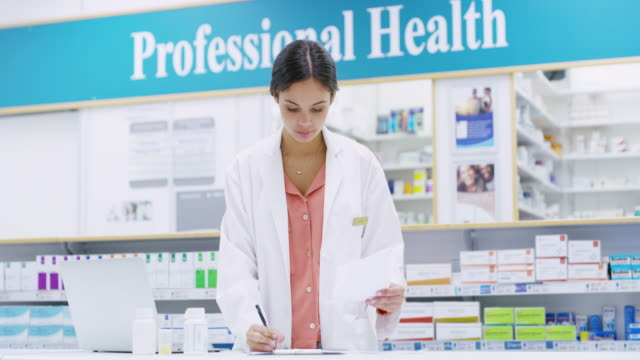 keeping track of everything in the pharmacy - medicare stock videos & royalty-free footage