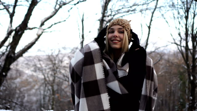 keeping warm - woolly hat stock videos & royalty-free footage