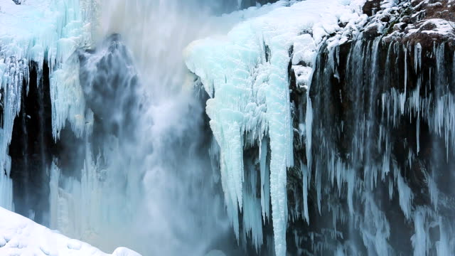 kegon waterfall (kegon no taki) in winter - icicle stock videos and b-roll footage