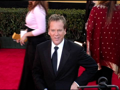 Keifer Sutherland at the 2005 Screen Actors Guild SAG Awards Arrivals at the Shrine Auditorium in Los Angeles California on February 5 2005