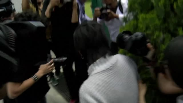Keiko Fujimori arrives at her father's house after the Peruvian Supreme Court annulled former president Alberto Fujimori's pardon and ordered his...