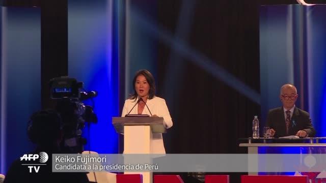 keiko fujimori favorita para las presidenciales del 10 de abril en peru marco distancia de su padre el expresidente alberto fujimori y aseguro que... - padre stock videos & royalty-free footage