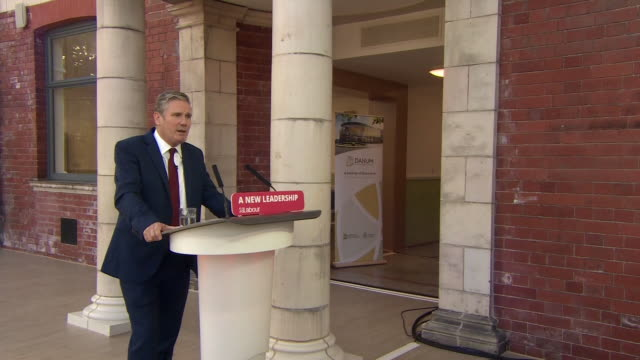 keir starmer giving his first conference speech as leader of the labour party - remote location stock videos & royalty-free footage